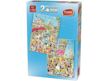 PUZZLE PARIS ET LA TOUR DE PISE 2 X 350 PIECES - KING COMIC COLLECTION - 05491