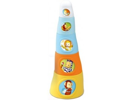 PYRAMIDE HAPPY TOWER COTOONS - SMOBY - 211127 - JOUET A EMPILER