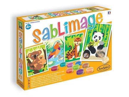 SABLIMAGE ANIMAUX EN DANGER - SABLE COLORE - SENTOSPHERE - 8805 - LOISIR CREATIF