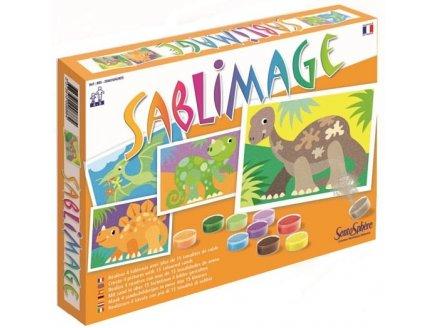 coffret 4 tableaux de sable sentosph re jouet loisirs cr atifs sable sable sablimage dinosaures. Black Bedroom Furniture Sets. Home Design Ideas