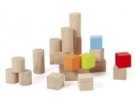 SET DE CUBES DE CONSTRUCTION EN BOIS - SCRATCH - 6181412 - BLOCS