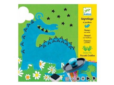 TAPOTAGE ET POCHOIRS LES GROS MONSTRES - DJECO - DJ08980