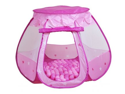 TENTE CABANE A BALLES ROSE BELLA + 100 BALLES - KNORRTOYS - 55325