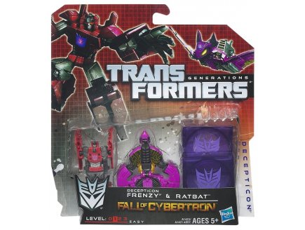 TRANSFORMERS DECEPTICON FRENZY ET RATBAT - FALL OF CYBERTRON - HASBRO - A1423