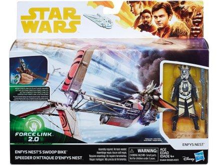 VAISSEAU STAR WARS SPEEDER ATTAQUE + ENFYS NEST - FORCE LINK 2.0 - FIGURINE - VEHICULE - HASBRO - E1260
