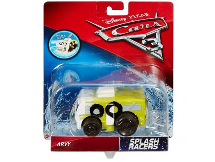 VEHICULE CARS 3 VEHICULE NAGEUR - ARVY CAMPING CAR BLANC - VOITURE MINIATURE - MATTEL - DXW10