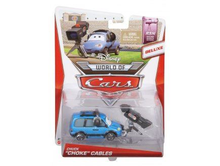 VEHICULE CARS WORLD OF DELUXE CHUCK LE CAMERAMAN - VOITURE MINIATURE - MATTEL - BDW69