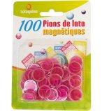100 PIONS MAGNETIQUES FUSHIA - JETONS MARQUAGE LOTO - LOTOQUINE