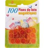 100 PIONS MAGNETIQUES ORANGE - LOTOQUINE - ACCESSOIRE LOTO