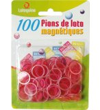 100 PIONS MAGNETIQUES ROSE - LOTOQUINE - ACCESSOIRE LOTO