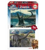 2 PUZZLES DINOSAURES JURASSIC WORLD 100 PIECES - EDUCA - 16340