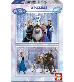 2 PUZZLES DISNEY DE LA REINE DES NEIGES 100 PIECES - EDUCA - 15767
