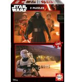 2 PUZZLES DISNEY STAR WARS LE REVEIL DE LA FORCE 100 PIECES - EDUCA - 16521