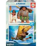 2 PUZZLES DISNEY VAIANA ET MAUI 100 PIECES - EDUCA - 16953