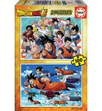 2 PUZZLES :DRAGON BALL Z : VEGETA - SON GOKU - SON GOTEN 100 PIECES - COLLECTION DESSINS ANIMES EDUCA 18214