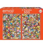 2 PUZZLES EMOJI 500 PIECES - COLLECTION SMILEYS - EDUCA - 17992