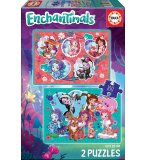 2 PUZZLES ENCHANTIMALS 100 PIECES - EDUCA - 17934