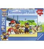 2 PUZZLES PAT PATROUILLE : RYDER JOUE AVEC MARCUS CHASE ZUMA ET ROCKY 24 PIECES - RAVENSBURGER - 090648