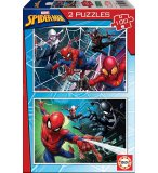 2 PUZZLES SPIDERMAN 100 PIECES - SUPER HEROS MARVEL SPIDER-MAN EDUCA 18101