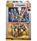 2 PUZZLES STAR WARS REBELS 100 PIECES - EDUCA - 16169
