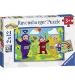 2 PUZZLES TELETUBBIES EN PROMENADE 12 PIECES - RAVENSBURGER - 07605