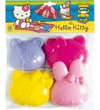 4 MOULES A SABLE HELLO KITTY - JOUET DE SABLE - JEU PLEIN AIR