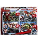 4 PUZZLES ENFANT AVENGERS 50 - 80 - 100 - 150 PIECES - EDUCA - 16331