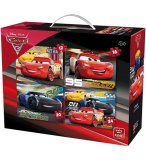 4 PUZZLES ENFANT CARS 3 FLASH MCQUEEN ET JACKSON STORM 12 - 16 - 20 - 24 PIECES - KING - 05504