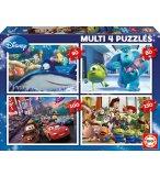 4 PUZZLES ENFANT CARS - TOY STORY - MONSTRES ET CIE - NEMO 50 - 80 - 100 - 150 PIECES - EDUCA - 15615