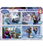 4 PUZZLES ENFANT DE LA REINE DES NEIGES  50 - 80 - 100 - 150 PIECES - EDUCA - 16173