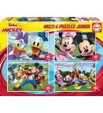 4 PUZZLES ENFANT LES PRINCESSES DISNEY : MICKEY PLUTO DINGO MINNIE ET DONALD 20 - 30 - 60 - 80 PIECES - EDUCA - 18627