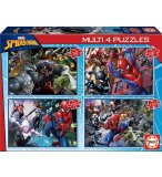 4 PUZZLES ENFANT SPIDER-MAN 50 - 80 - 100 - 150 PIECES - COLLECTION SUPER HEROS - EDUCA - 18102