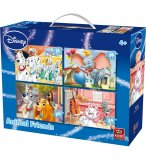 4 PUZZLES PROGRESSIFS DISNEY : 101 DALMATIENS - DUMBO - BELLE ET CLOCHARD 12 - 16 - 20 - 24 PIECES - KING 05506