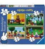 4 PUZZLES PROGRESSIFS MIFFY 12 - 16 - 20 - 24 PIECES - RAVENSBURGER - 073207