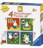 4 PUZZLES PROGRESSIFS MIFFY 6 - 9 - 12 - 16 PIECES - RAVENSBURGER - 071142