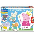 5 PUZZLES PROGRESSIFS PEPPA PIG 3 - 5 PIECES - EDUCA - 15622