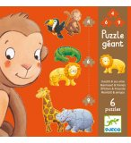 6 PUZZLES GEANTS - OUISTITI ET SES AMIS 4 - 6 - 9 PIECES - DJECO - DJ07114