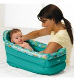 BAIGNOIRE GONFLABLE BEBE BLEU TURQUOISE - TOMY - 71726 - PUERICULTURE