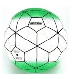 BALLON DE FOOTBALL PVC VERT BLANC 23 CM - JEU PLEIN AIR