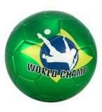 BALLON DE FOOTBALL VERT WORLD CHAMP 23 CM - JOHN - JEU PLEIN AIR