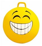 BALLON SAUTEUR SMILEY SOURIRE 65 CM JAUNE - SKIPPY BALL - JEU POUR REBONDIR ENFANT