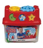 BARIL SPIN'N SORTER 32 PIECES - MEGA BLOKS - 590 - JEU DE CONSTRUCTION