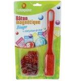 BATON MAGNETIQUE BINGO ROUGE + 100 PIONS DE LOTO - RAMASSE PIONS - LOTOQUINE