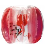 BODY BUBBLE BALL 1.2 M ROUGE - BOULE GONFLABLE - FOOT,  JEU EXTERIEUR