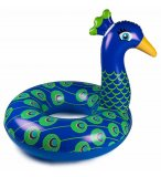 BOUEE GONFLABLE GEANTE XXL PAON BLEU ADULTE - BOUEE ANIMAL PISCINE - BIG MOUTH