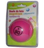BOULE DE LOTO MAGNETIQUE NUMEROTEE ROSE + 100 PIONS DE LOTO - RAMASSE PIONS - LOTOQUINE