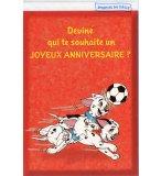 CARTE D'ANNIVERSAIRE LES 101 DALMATIENS FOOTBALL (9)