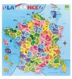 CARTE DE FRANCE MAGNETIQUES 95 PIECES EN BOIS - VILAC - 2582 - PUZZLE EDUCATIF MAGNETS