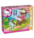 CHARIOT ET CHEVAL HELLO KITTY PRINCESSE - UNICO PLUS - 8678 - JEU DE CONSTRUCTION
