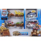 COFFRET 4 VEHICULES OFF ROAD + 2 VEHICULES OFF SNOW EN METAL PAT PATROUILLE : MARCUS CHASE STELLA RUBEN ZUMA ROCKY - VOITURE MINIATURE - SPIN MASTER 20124566